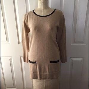 Beige Tunic Sweater